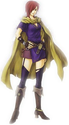 Leila - Fire Emblem; from 'Blazing Sword'. a spy from Ostia who serves under Hector. She had a lasting relationship with fellow spy, Matthew before her untimely demise. she ran into him when he was first employed. Both became friends. Later, their relationship deepened, & they fell in love. Matthew also revealed his plans to marry her to a supportive Hector.