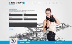 Desenvolvimento do site da Coleção Inverno 2012 da L.Seven Jeans, marca do Grupo Latreille.