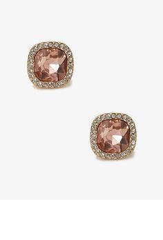 Colored Faux Gem Studs | FOREVER21 - 1031556821