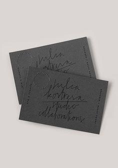 Business Cards // Branding & Identity >>  JULIA KOSTREVA STUDIO Business Branding, Business Stationary, Business Card Design, Marketing Branding, Logo Branding, Stationary Design, Creative Business, Unique Business Cards, Black Business Card