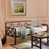 Wayfair InStyle Furnishings Medallion Daybed Low arm sides