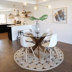 If you are looking for Small Dining Room Table Ideas, You come to the right place. Below are the Small Dining Room Table Ideas. This post about Small Dining . Boho Living Room, Living Room Decor, Living Dining Combo, Living Rooms, Bedroom Decor, Wall Decor, Wall Art, Glass Dining Table, Small Dinning Room Table