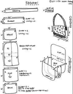 This is the best Messenger bag tutorial! Easy to add pockets and compartments to lining.