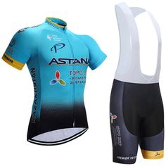 New Astana Cycling Jersey Bike Shorts Set Ropa Ciclismo Quick Dry Pro Cycling Wear Mens Bicycle Maillot Culotte Suit //Price: $49.78 & FREE Shipping //     #chooseandshop #biker #motorcycles
