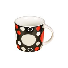 72 Units of BLACK MUG WITH POLKA DOT - Coffee Mugs - at - alltimetrading.com Wholesale Coffee Mugs, Disposable Coffee Cups, Stainless Steel Thermos, Cute Coffee Mugs, Polka Dots, The Unit, Tableware, Black, Dinnerware