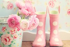 pink and flowers - favourite combination!