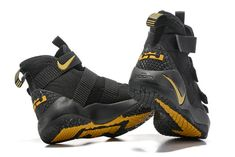 83f7111f2bf Latest LeBron Soldier 11 2017 New Arrival Black Yellow - Click Image to  Close · Lbj ShoesPopular ShoesNike ...