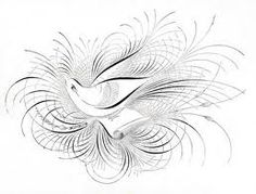 Calligraphic art again - this one looks a little like a bower bird.