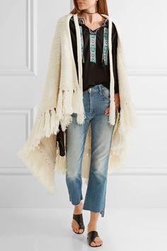 Talitha   Tasseled alpaca and wool-blend cape   NET-A-PORTER.COM