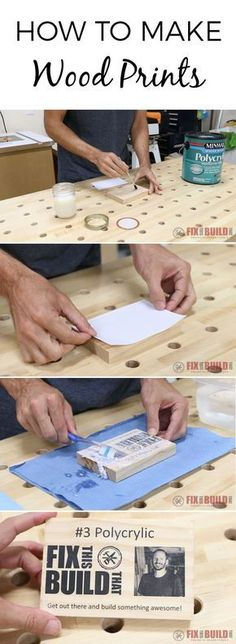 Learn how to make wood prints using 5 different methods. Great for customizing any DIY project! Full video tutorial inside!