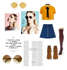"""Bringing the 70s"" by rudycastaneda-rc on Polyvore featuring Muk Luks, Elvi, Étoile Isabel Marant, Yves Saint Laurent, Mykita and ZeroUV"