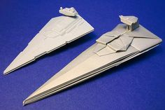Origami spaceships by Shu Sugamata.