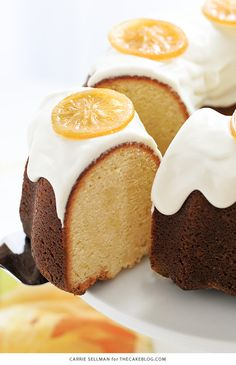 A lemony cream cheese bundt cake topped with lemon cream cheese frosting and candied lemon slices. A refreshing bright cake that's elegant and easy.