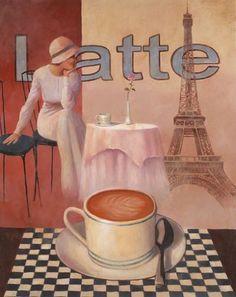 4 Coffee Posters Kitchen Cafe Decor Paris Art Print by wallsthatspeak, http://www.amazon.com/dp/B000GHXJKU/ref=cm_sw_r_pi_dp_rrG7pb0P8GTG9