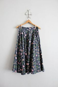 1950s vintage neighborhood print circle skirt by allencompany, $59.00