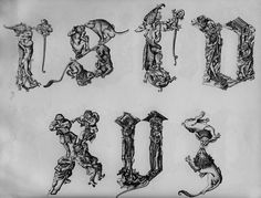 Master E. S. - The Fantastic Alphabet, c. 1465.