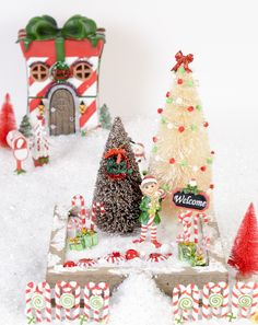 Arts and Crafts Store Christmas Decorations, Christmas Ornaments, Holiday Decor, Winter Fairy, Woodland Fairy, Garden Fun, Christmas Villages, Creative Play, Fairy Houses