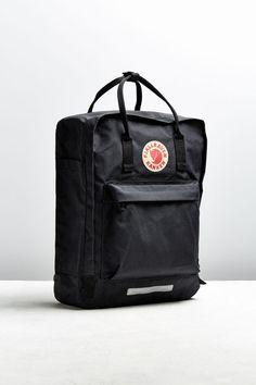 Urban Outfitters Fjallraven Kanken Big Backpack - Dark Grey One Size Big Backpacks, Skater Girls, Indie Kids, Vans Old Skool, Black Backpack, Duffel Bag, Kanken Backpack, Urban Outfitters, Bags