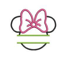 Minnie Mouse Embroidery Design, Minnie Mouse Applique Design (198) Instant Download