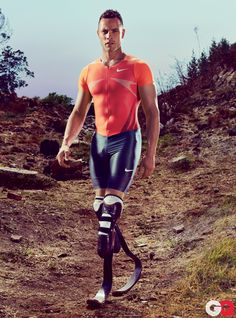 Oscar Pistorius ♥ He lost his legs when he was 11 months-old and now he's recently been chosen to represent South Africa in two track events at the London Olympics. He'll be the first amputee track athlete to compete at any games