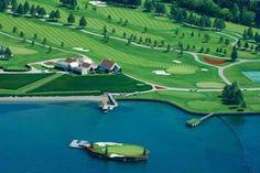 Island Green at Coeur d'Alene Resort in Idaho... #golf #courses