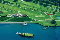 Island Green at Coeur d'Alene Resort in Idaho... #golf #courses