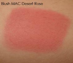 MAC Desert Rose blusher swatch