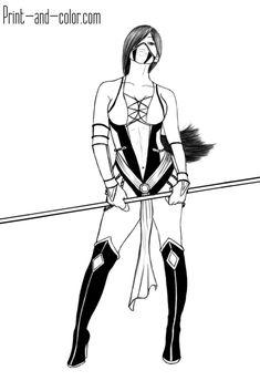 Fantasy Drawings, Sexy Drawings, Cartoon Drawings, Jade Mortal Kombat, Mortal Kombat Art, Mortal Kombat Tattoo, Female Drawing, Drawing Poses, Koi Art