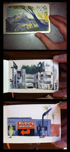 L.A. Trip sketches | Illustrator: Matthew Cruickshank - http://crookiesblog.blogspot.com