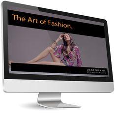 #CreativeFanClub // Debenhams #website #design