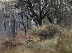 Arthur Boyd (Australian, Old Mine Shaft, Oil on composition board, 68 x cm. Australian Painting, Australian Artists, Arthur Boyd, Avant Garde Artists, Photo Tree, Art Techniques, Abstract Landscape, Impressionist, Drawings