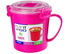 Original Gift Company Soup-To-Go Mug, Pink, Polyproplylene Take a healthy, hearty soup to work or college with this special store, cook and serve mug. http://www.MightGet.com/february-2017-2/original-gift-company-soup-to-go-mug-pink-polyproplylene.asp