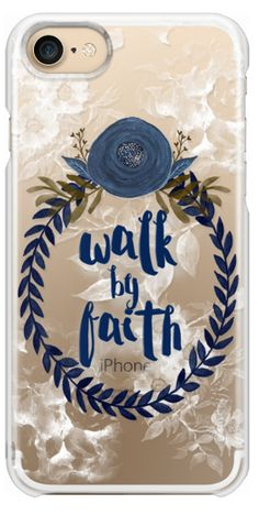 Casetify iPhone 7 Snap Case - Walk by Faith by Li Zamperini Art