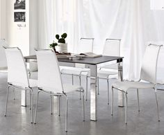 Baron Table with Web Chairs by Calligaris