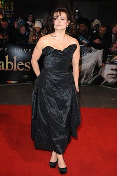 Helena Bonham Carter wearing Vivienne Westwood Couture at the premiere of Les Miserables