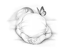 Gentle hand-drawn portraits for the pregnancy and infant loss community. - Gentle hand-drawn portraits for the pregnancy and infant loss community. Certificates of Life, Ange - Pencil Art Drawings, Cute Drawings, Drawing Sketches, Baby Sketch, Pregnancy And Infant Loss, Baby Drawing, Baby Tattoos, Amazing Drawings, Baby Art