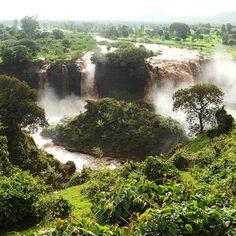 """Tis Esat"" ..... The water that smokes, Blue Nile falls"