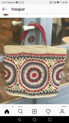 Shu Juan's media content and analytics Crochet Quilt, Crochet Mandala, Crochet Stitches, Knit Crochet, Crochet Clutch, Crochet Handbags, Crochet Purses, Crochet Bags, Knitting Patterns