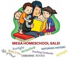 Good things come to those that wait! MEGA homeschool sale starts tomorrow August 13, 12 am! Life of Fred, Apologia, Sonlight, Notgrass, WriteShop, Math U See, Teaching Textbooks and Usborne books