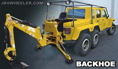 Backhoe  jeep wrangler jk