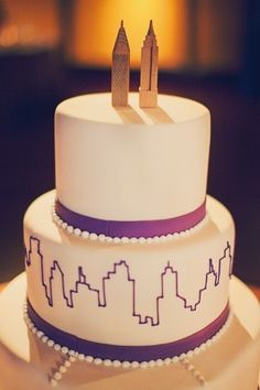 New York cake #beads #purple #yum