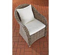 CLP Polyrattan Sessel FARSUND Inklusive Sitzkissen I Robuster Gartenstuhl  Mit Einem Untergestell Aus Aluminium I In Verschiedenen Farben Erhältlich