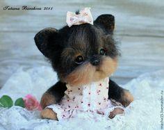 """Купить """"Аринка"""" - щенок, щеночек, Йоркширский терьер, йорк, войлочная игрушка…"""