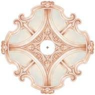 "Verona Mist 26"" Wide Repositionable Ceiling Medallion - #2V669 