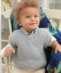 Baby's Play Vest free pattern by redheart