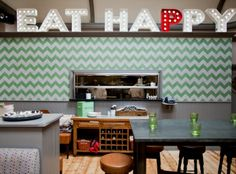 Great example of how to use green and grey encaustic chevron tiles - these bespoke encaustic tiles were installed in the Kings Head in winchmore hill (Geronimo Inns) http://www.terrazzo-tiles.co.uk/chevron-green-encaustic-cement-tile.html