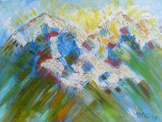 tableau la montagne acrylique sur toile