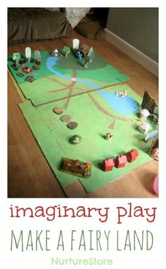 DIY magic fairy land - fantastic for imaginary play and storytelling.