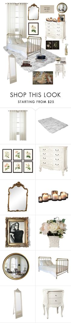 """""""good&cream bedroom"""" by abigailshanice ❤ liked on Polyvore featuring Royal Velvet, Gallery, Crosley, Cultural Intrigue, Guide London and bedroom"""