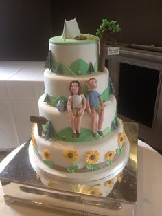 Camping Themed Wedding Cake * To view further for this article, visit the image link. #Outdoor